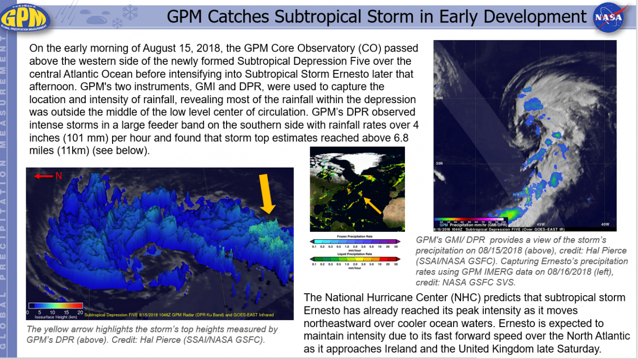 GPM Catches Subtropical Storm in Early Development