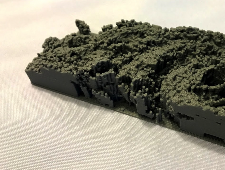 3D Printed GPM Data  from Typhoon Malakas