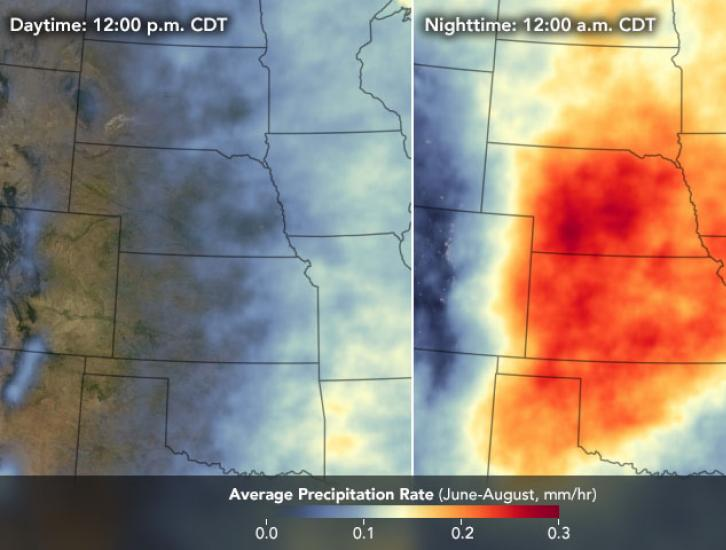 Average Precipitation Daytime vs. Nighttime