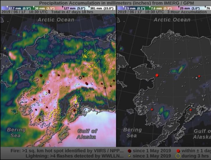 Rain Patterns During the Alaska Wildfires