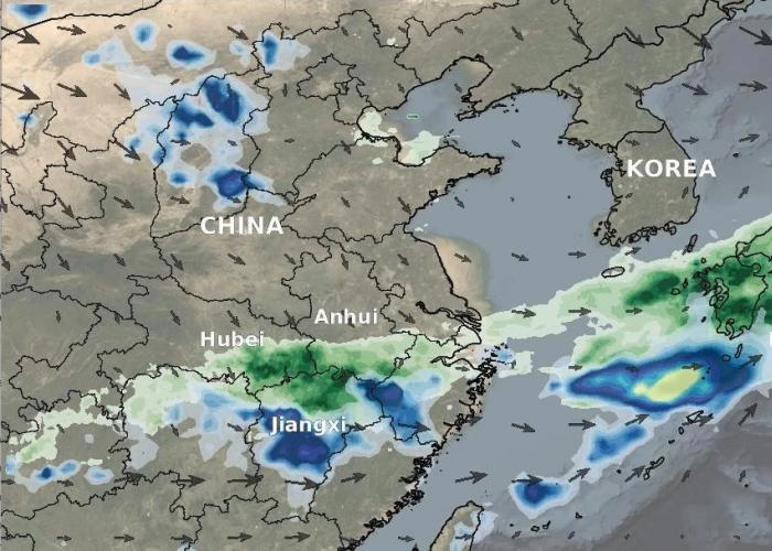IMERG rainfall totals from Japan, July 3 - 9 2020