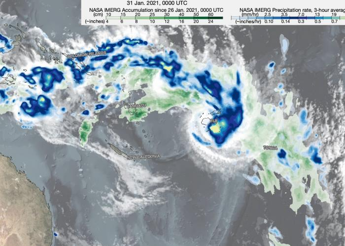 IMERG Captures Rainfall from Tropical Cyclone Ana in Fiji