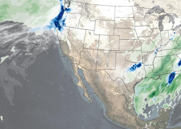 IMERG Sees Winter Storms Impact the Southern U.S.