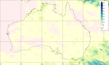 Surface rainfall accumulations (mm) estimated from the NASA IMERG satellite precipitation product from 1 to 30 November 2019 over Australia and the surrounding waters.