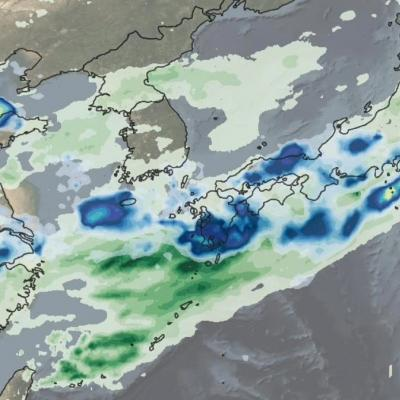 IMERG rainfall totals from Japan, June 29 - July 5, 2020