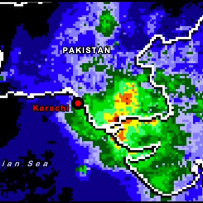 IMERG rainfall from the Pakistan Floods 2020