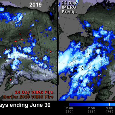 Alaska Rainfall 2019 and 2020
