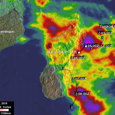 Tropical Cyclone Ava's Disastrous Rainfall Measured With IMERG