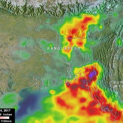 Bangladesh's Heavy Rainfall Examined With IMERG