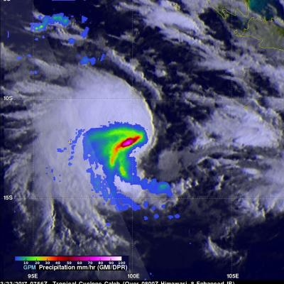 Tropical Cyclone Caleb's Rainfall Revealed By GPM