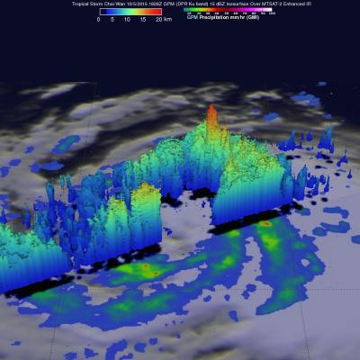GPM Reveals Very Strong Thunderstorms in Typhoon Choi-Wan