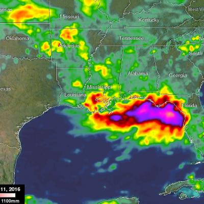 Extreme Rainfall Along the Gulf Coast Measured by IMERG