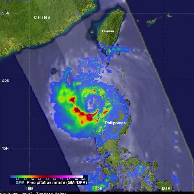 GPM Measures Extreme Rainfall With Typhoons Sarika and Haima