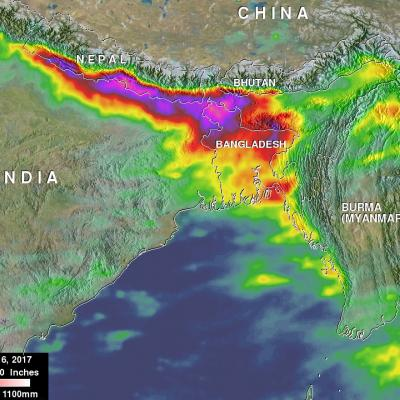 Deadly Southern Asia Flooding Rainfall Measured By NASA's IMERG