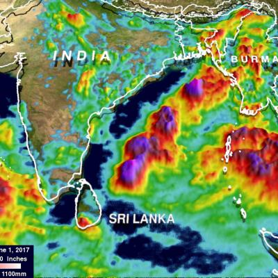 IMERG Shows Heavy Rainfall From Southwest India To Northeast India