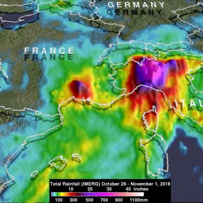 Italy's Extreme Rainfall Examined With IMERG