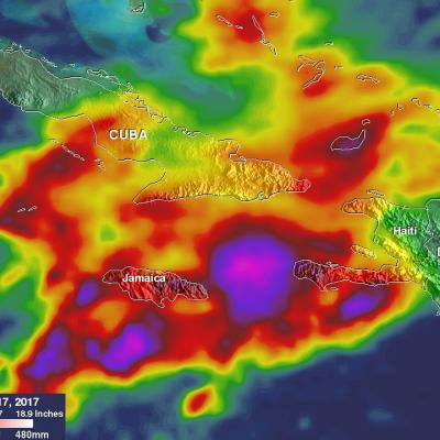 Heavy Rainfall In The Caribbean Measured By IMERG