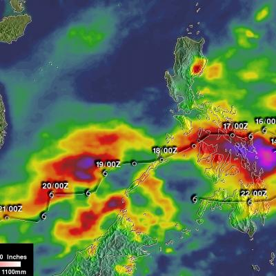 Tropical Storm Tembin Rainfall Added To IMERG Analysis