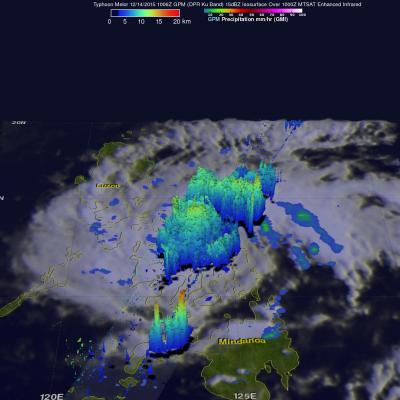 GPM Sees Super Typhoon Melor Hitting The Philippines