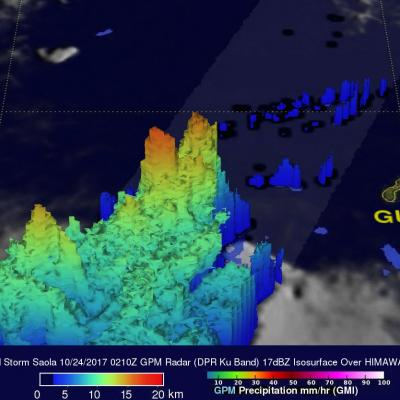 GPM Observes Another Typhoon That May Threaten Japan