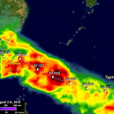 Deadly Typhoon Soudelor's Rainfall Analyzed