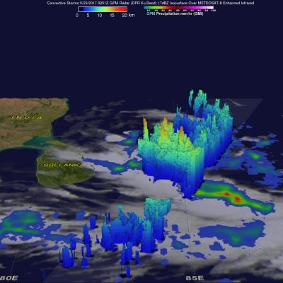 GPM Sees Powerful Storms With Advancing Monsoon