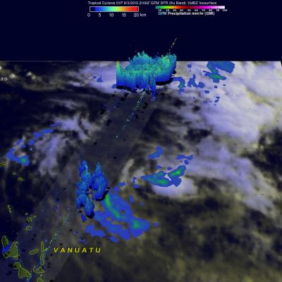 GPM Views Rare Southern Hemisphere Tropical Cyclone