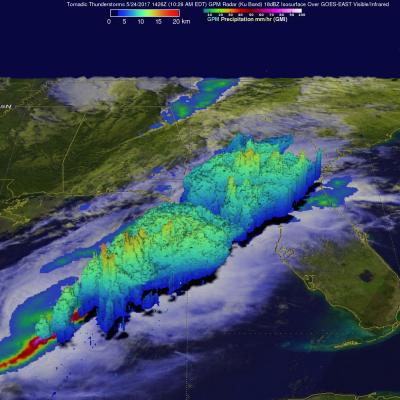 Tornado Spawning Storms Examined By GPM Satellite