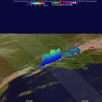 GPM Sees Deadly Tornadic Storms Moving Through The Southeast