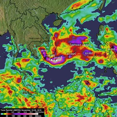 NASA's IMERG Used To Analyze Tropical Storm Usagi's Rainfall