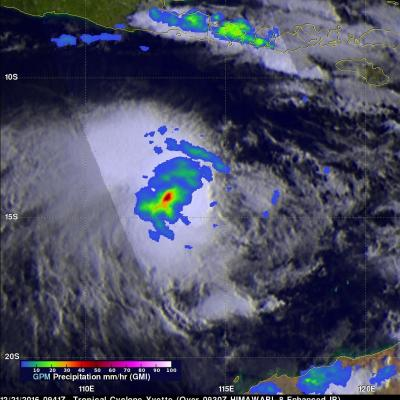 GPM Finds Rainfall Increasing With Tropical Cyclone Yvette