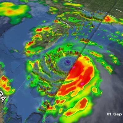 GPM Overpass of Hurricane Dorian