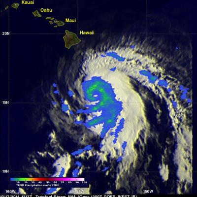 Ana Threatens Hawaiian Islands