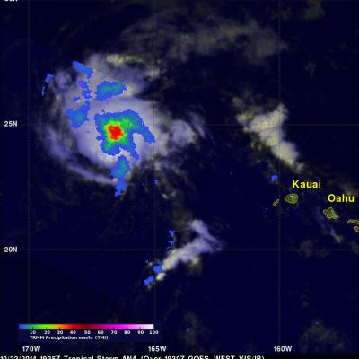 Tropical Storm Ana Still Vigorous