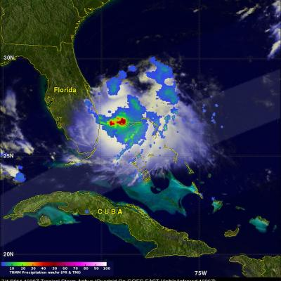 TRMM Sees New Tropical Storm Arthur