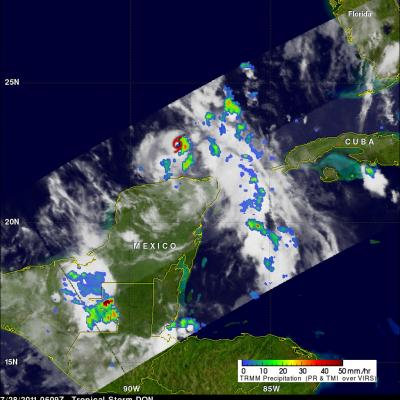 TRMM image of Tropical Storm Don