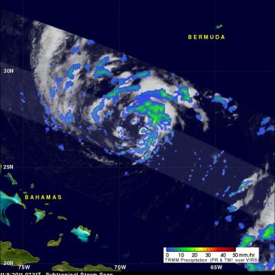 TRMM image of subtropical storm Sean