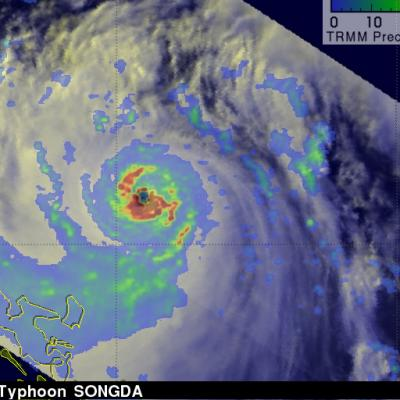 Songda becomes a Super Typhoon