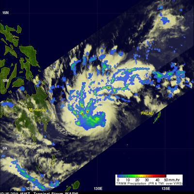 TRMM image of Tropical Storm Washi